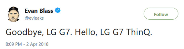 LG's 2018 flagship could be named the LG G7 ThinQ - LG G7 ThinQ is the name of LG's next flagship phone?