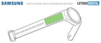 Proposed Gear S4 with integrated flexible batteries in the strap