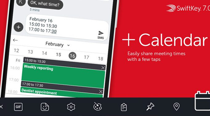 SwiftKey Keyboard gains new Location and Calendar features in latest update