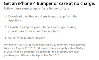 Apple begins free bumper program
