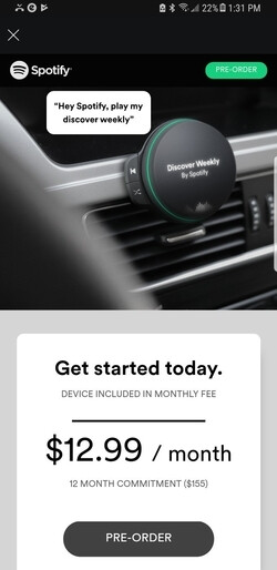 Spotify could launch a new in-car speaker on April 24
