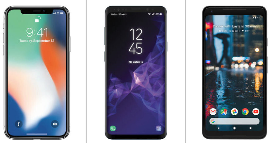 Samsung Galaxy S9/S9+ and iPhone X are up to 50% off at Verizon with trade-in