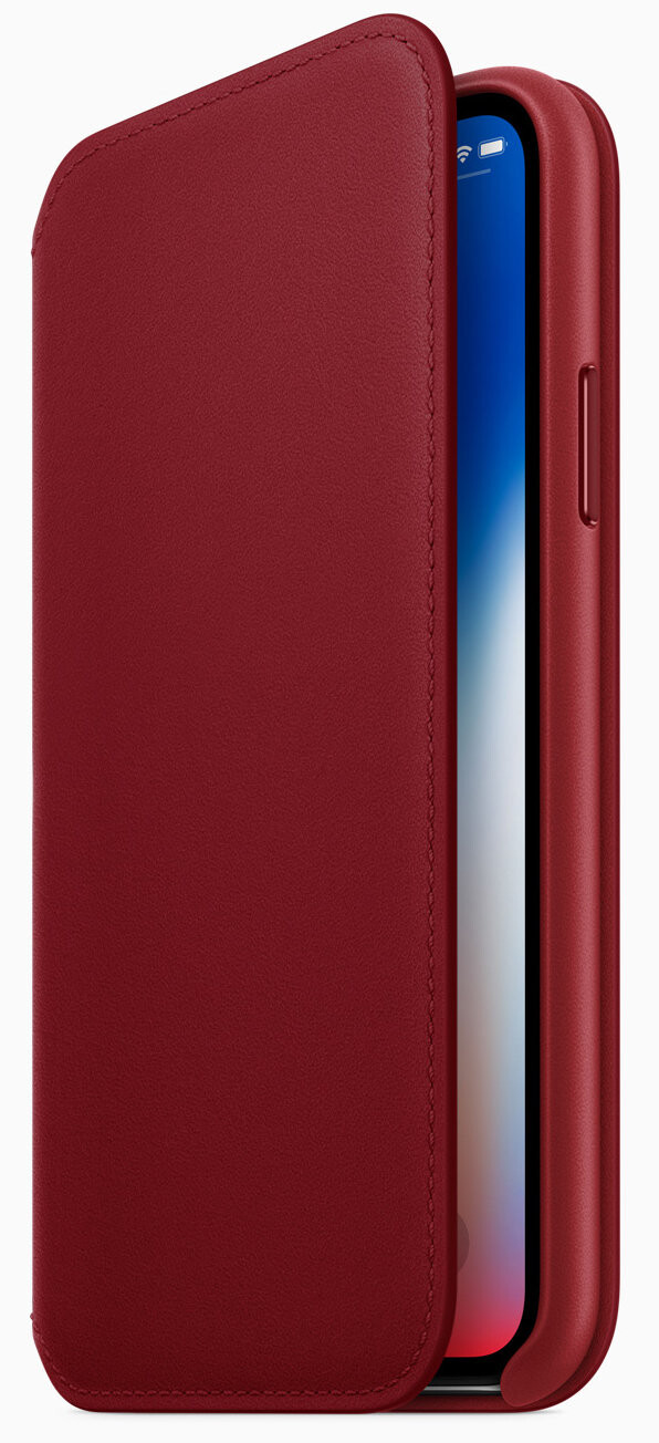 iPhone 8/8 Plus (PRODUCT)RED folio case - Apple announces iPhone 8 and iPhone 8 Plus (PRODUCT)RED Special Edition go on sale on April 10