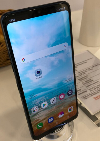 This allegedly shows the LG G7 ThinQ with the optional notch feature blacked out - More information about the LG G7 ThinQ's cameras and optional notch surfaces