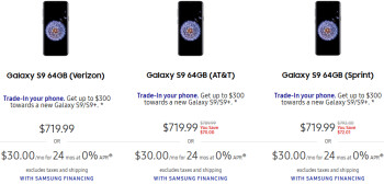 Samsung lowers the prices of Galaxy S9 and S9+ (Verizon, AT&T, Sprint)