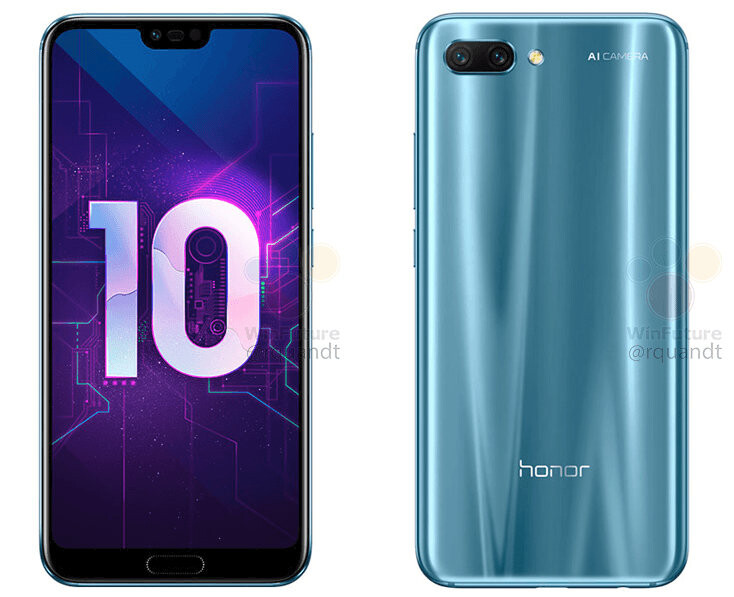 Honor 10 - Honor 10 leaked press renders show strong resemblance to the Huawei P20