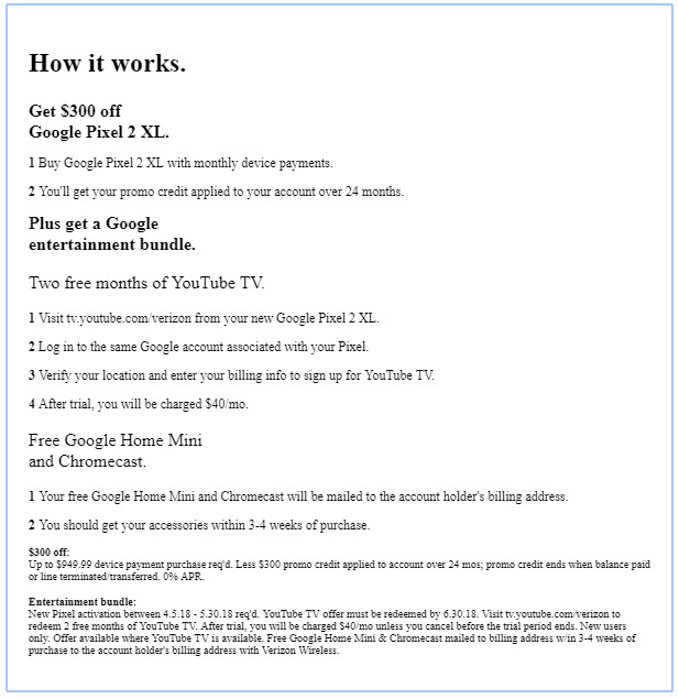 Verizon offers the best Google Pixel 2 XL deal so far