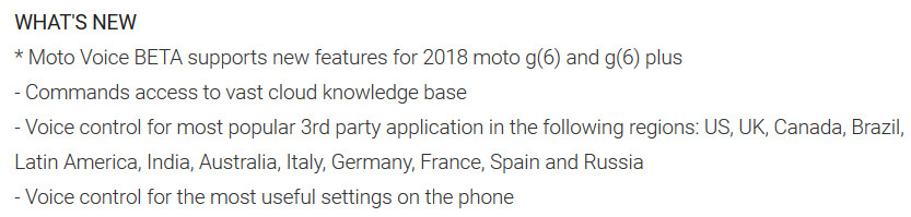Changelist for the Moto Voice app mentions the Moto G6 and Moto G6 Plus - Evidence that the unannounced Moto G6 and Moto G6 Plus are legit comes from Motorola itself