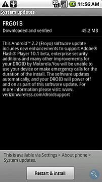 UPDATE: Froyo 2.2 coming to the Motorola DROID next week