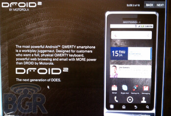 Verizon starts training for DROID 2