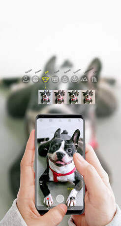 Screenshot of the AI CAM on the Verizon LG V30 ThinQ