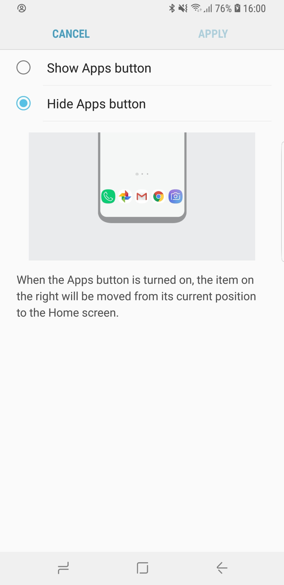 Show or hide the app drawer on your Galaxy S9 - Samsung Galaxy S9/S9+ customization guide: All the essential settings you should change