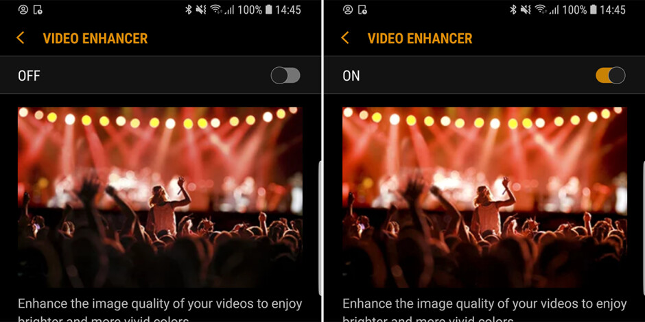 Video enhancer on and off - Samsung Galaxy S9/S9+ customization guide: All the essential settings you should change