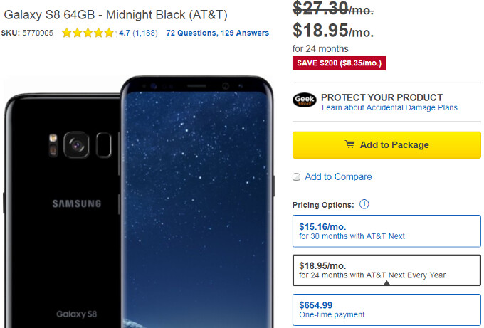 Deal: AT&T's Samsung Galaxy S8 and S8+ are now $200 off