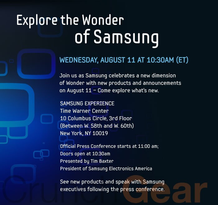 Samsung's Android powered tablet is expected to be announced on August 11?
