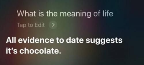 Siri makes a joke