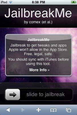 An iPhone 4 browser-based jailbreak appears, just for the legality of it