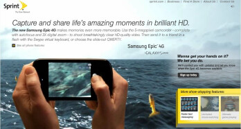 Sprint launches its teaser web site for the Samsung Epic 4G
