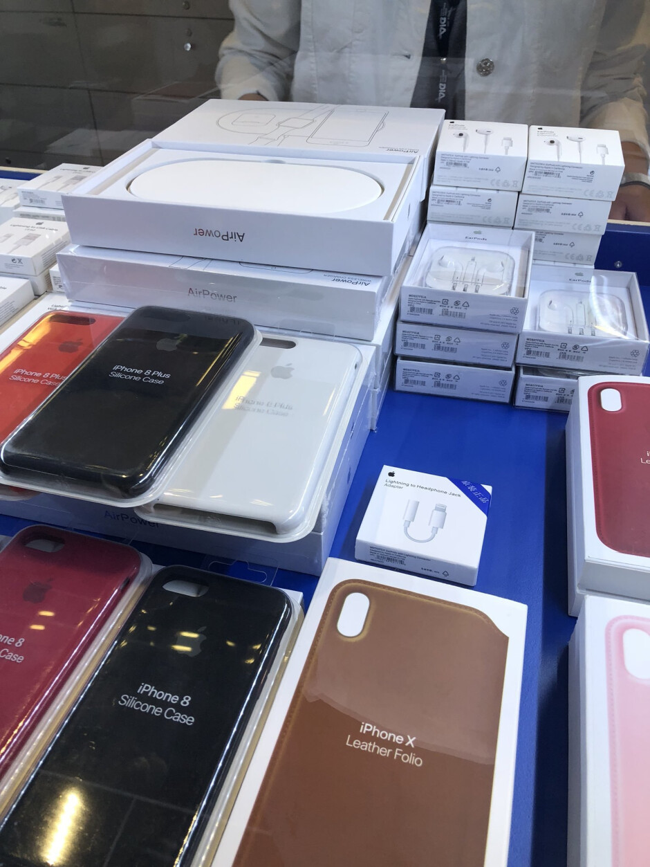 The AirPower Qi charging pad, like probably all of the Apple products seen here, is fake - Apple AirPower Qi pad seen in Vienna airport turns out to be a fake