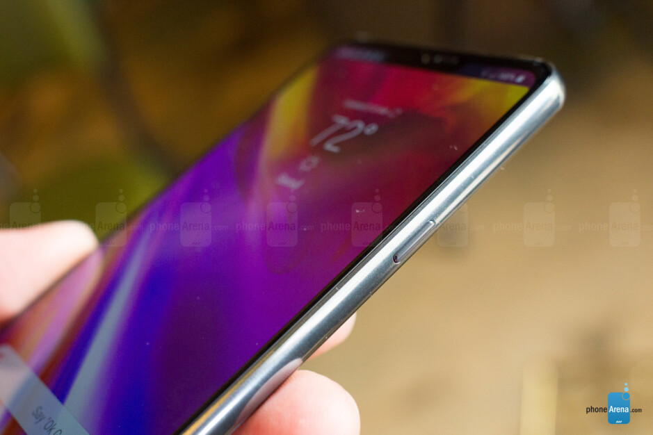 The LG G7 ThinQ has a power button on the right and a Google Assistant button on the right - LG G7 ThinQ Preview: I spent two days with LG's best phone yet