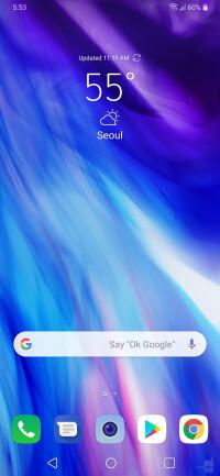 LG G7 Home Screen