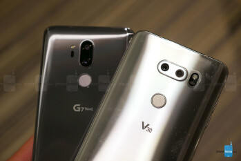 The G7 ThinQ with the V30
