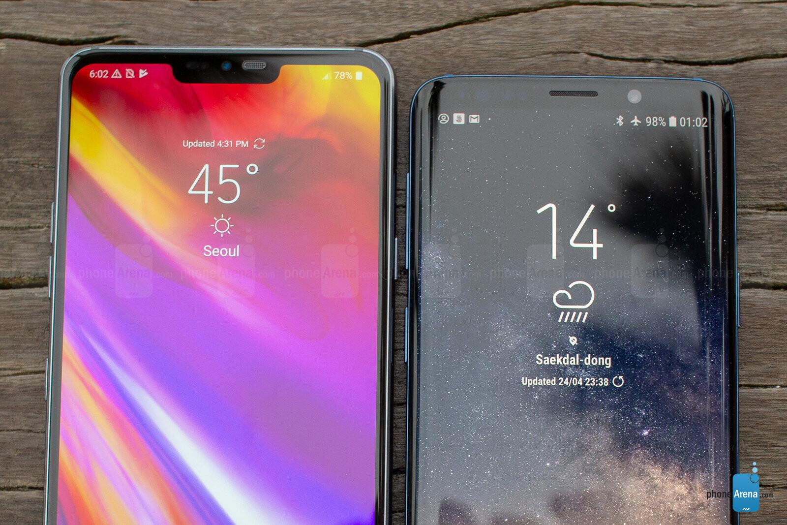 lg g7 thinq vs samsung s9 vs iphone x