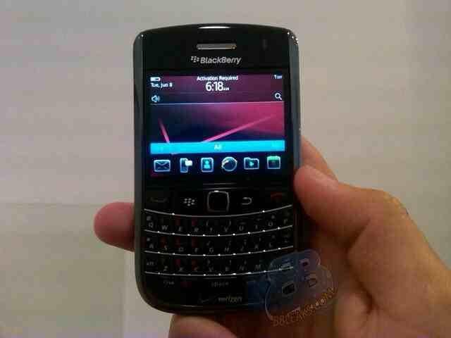 Preliminary build of BlackBerry OS 6 seen running on a Verizon Bold 9650