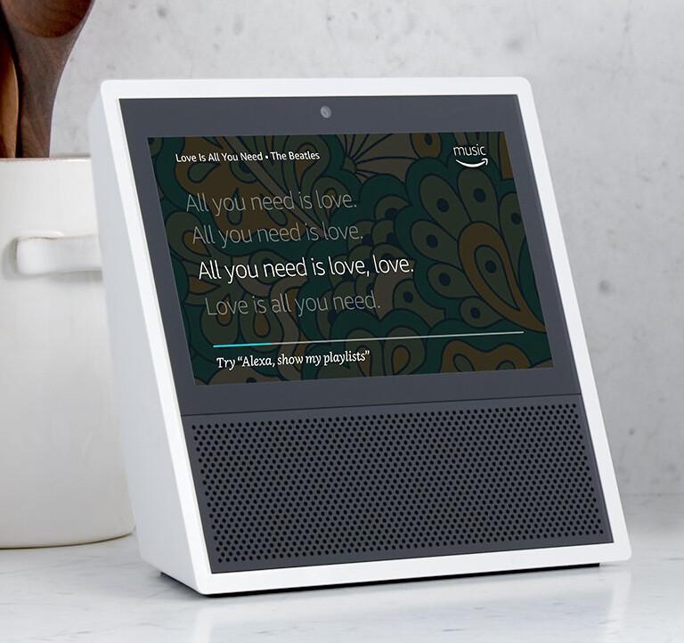 Amazon Echo Show - Upcoming smart speakers in 2018: Echo, Google Home, Bixby