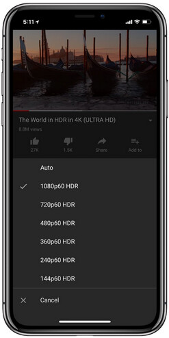YouTube adds HDR support for the Apple iPhone X - YouTube now supports HDR video on the Apple iPhone X