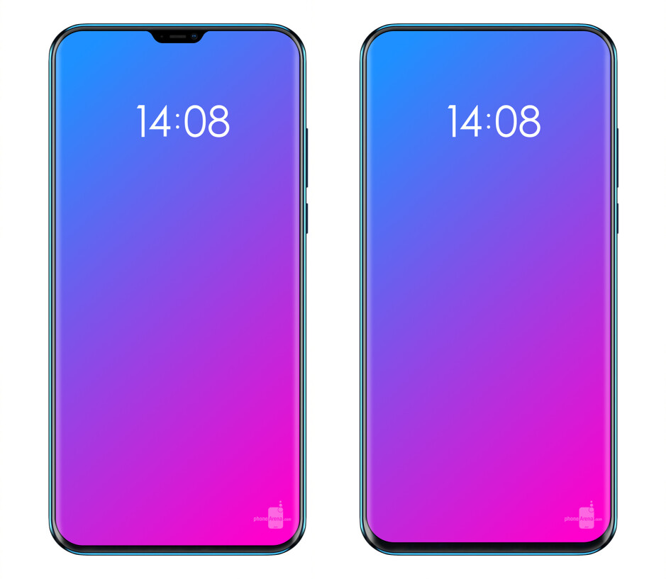Our mockup of the Lenovo Z5 - The truly bezel-less phone: Lenovo's next flagship teased in a sketch, impressive looks raise questions