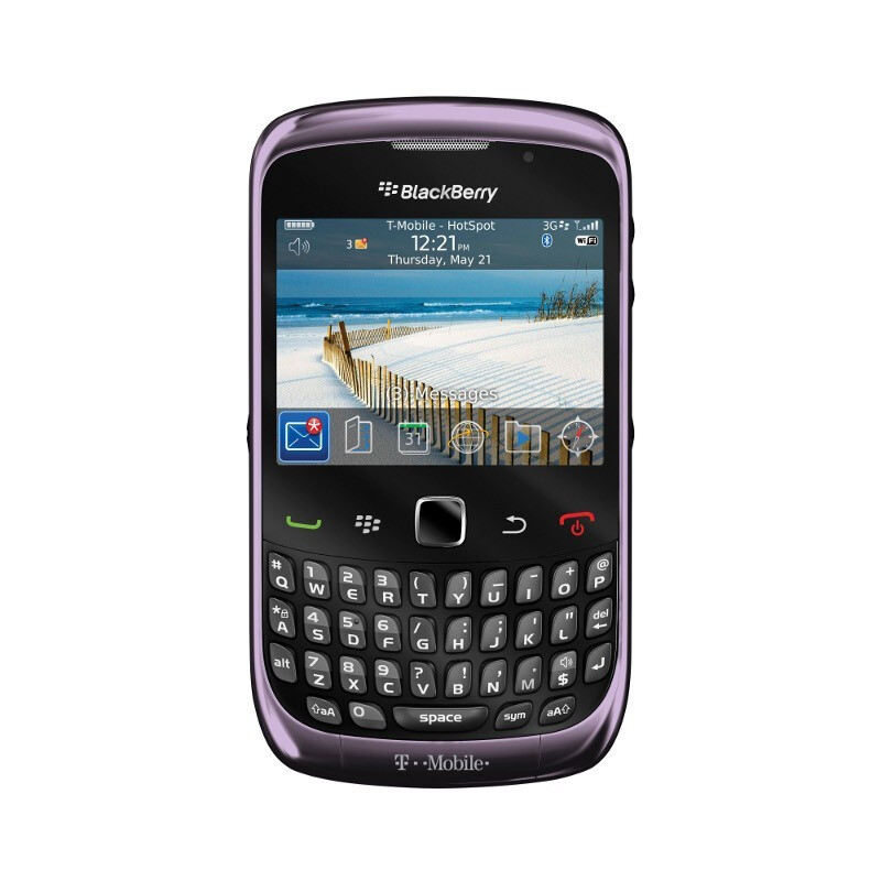 T-Mobile's Curve 3G smoky violet - BlackBerry Curve 3G launches and T-Mobile US is first to say first