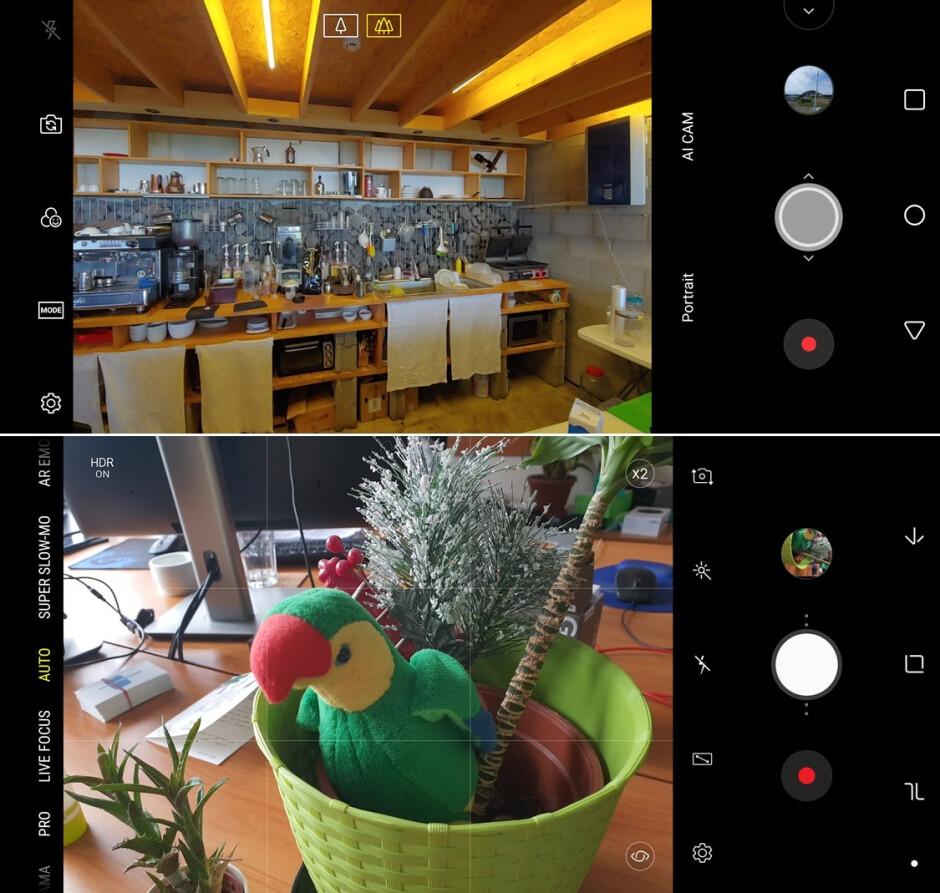 LG G7 ThinQ (top) vs Samsung Galaxy S9 (bottom) - LG G7 ThinQ vs Samsung Galaxy S9: Visual interface comparison