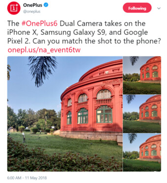 OnePlus 6 camera teaser - OnePlus 6 to feature Pixel 2 and iPhone X-rivaling camera