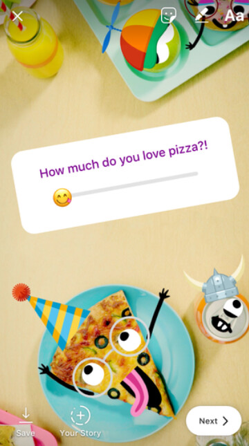 The emoji slider is rolling out to version 44 of Instagram - Instagram introduces the emoji slider for poll questions you ask friends and followers