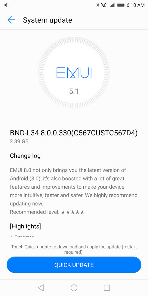 Huawei Mate SE starts receiving Android 8.0 Oreo