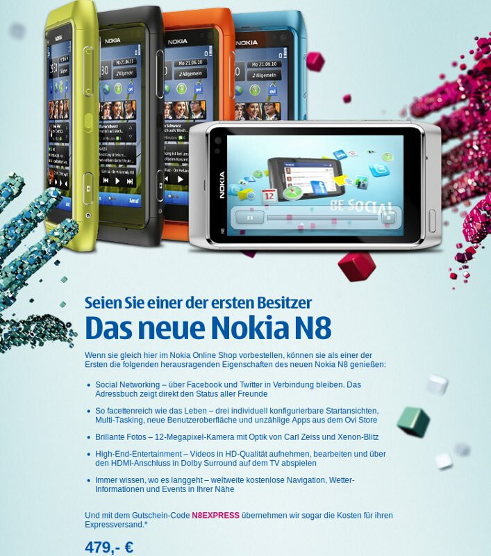 Nokia Germany will now take your N8 pre-order and your money too