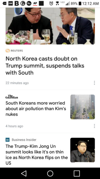 Full Coverage on the new Google News app gives you a top story from a number of different sources