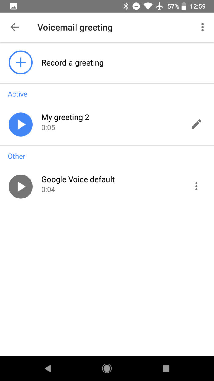 Google Voice Update Adds Record Voicemail Greetings Feature