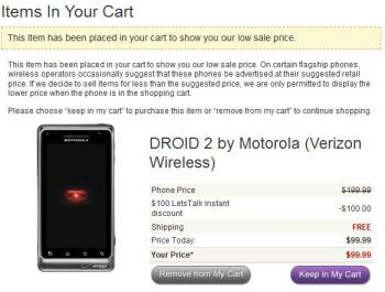 Motorola DROID 2 receives a price chop to $99.99 courtesy of LetsTalk