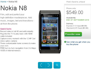 Nokia N8 pre-orders are now live for the US market - September bound