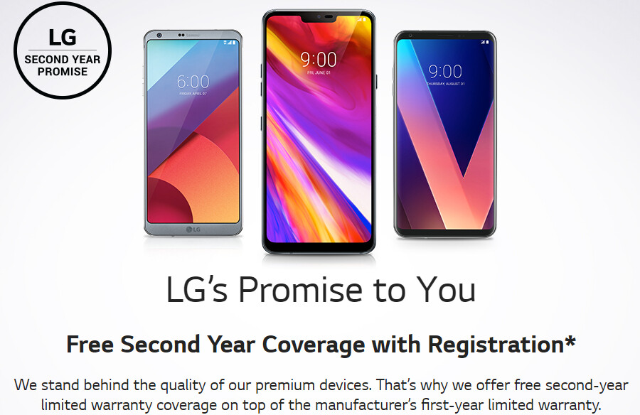 LG G7 ThinQ comes with free extended warranty in the US