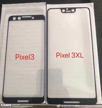 Screen protectors allegedly made for the Pixel 3 and Pixel 3 XL