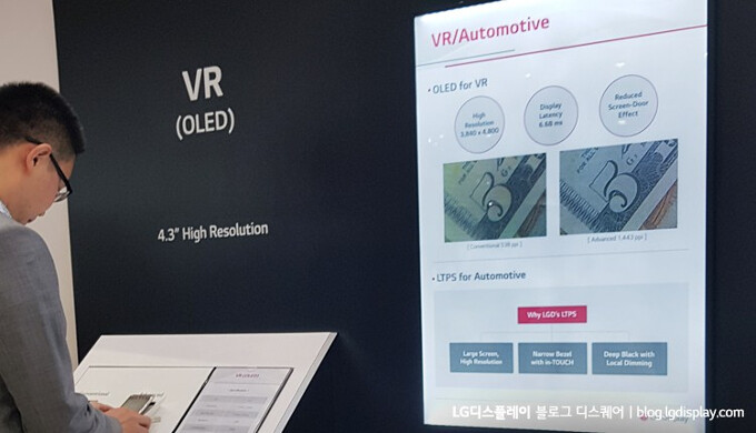 LG's whopping 1440ppi OLED screen may land in a future Google VR gizmo - LG and Samsung flaunt their newest screens, including the highest-density OLED display
