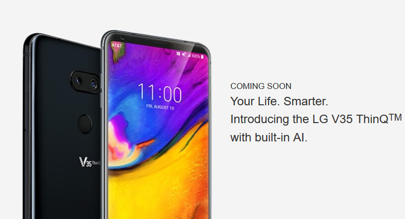 The LG V35 ThinQ launches June 8th at AT&T - $900 LG V35 ThinQ launches June 8th at AT&T; pre-orders start June 1st