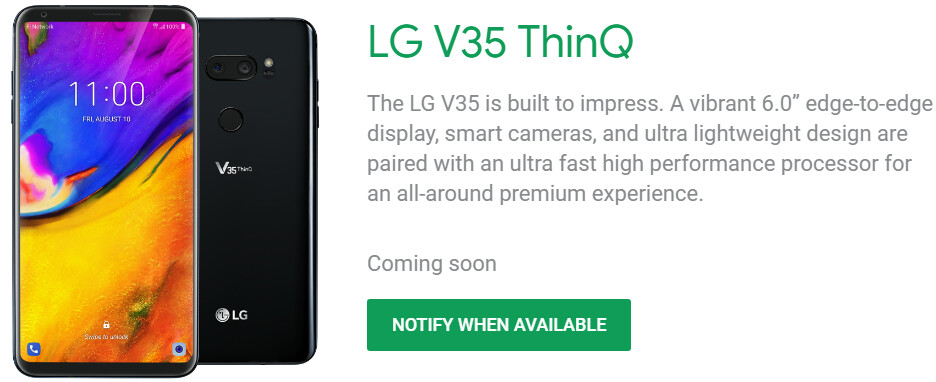 Google Project Fi launches three new smartphones, including the LG V35 ThinQ