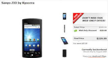 Cricket launches Android powered Sanyo Zio by Kyocera