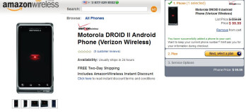 Motorola DROID 2 is already getting the Amazon treatment - priced at $99.99