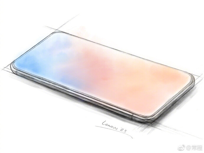 A sketch that teased the Lenovo Z5's design - Another dream shattered? Leaked Lenovo Z5 render reveals it's not as bezel-free as it was teased