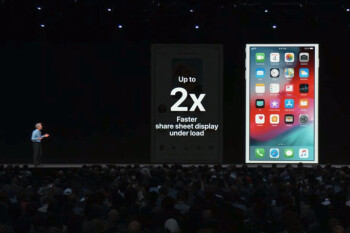 Mr. Craig Federighi introducing the boosts in performance for older devices in iOS 12